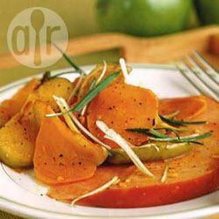 Ham Met Appels, Zoete Aardappelen En Cider