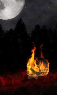 Burning Skull Gothic Wallpaper