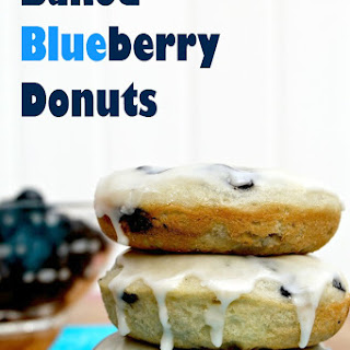 EASY Blueberry Donuts.