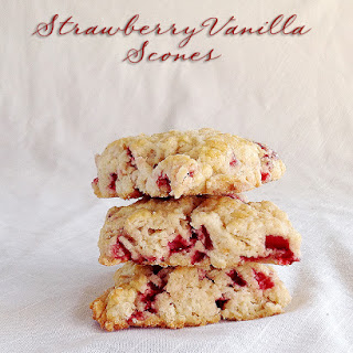 Strawberry Vanilla Scones