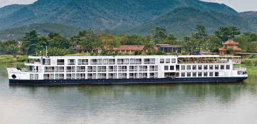 "AmaLotus-exterior - Sail aboard the 124-passenger AmaLotus to experience spectacular scenery along the Mekong River, ""The Mother of Water,"" on your river cruise through Cambodia and Vietnam."