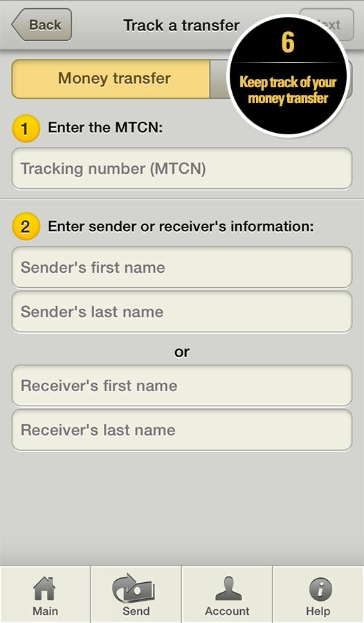 Western Union Money Transfer - screenshot