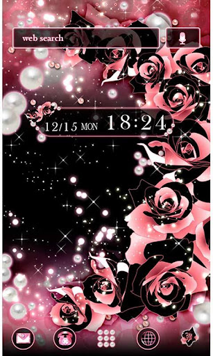 u2605FREE THEMESu2605Roses & Pearls 1.0.2 Windows u7528 1