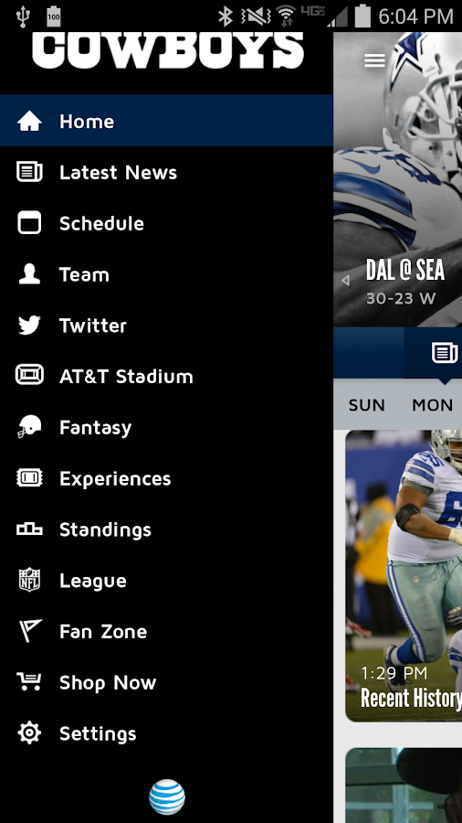 Dallas Cowboys Mobile - screenshot