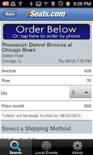 eSeats Tickets App - screenshot thumbnail