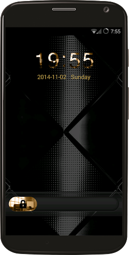 Luxurious Black Gold Locker