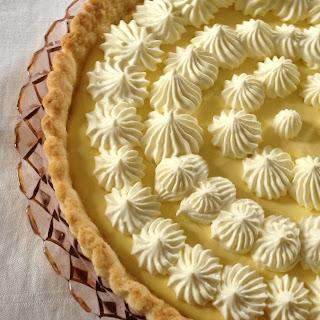 Mango Cream Tart With Mango Whipped Cream
