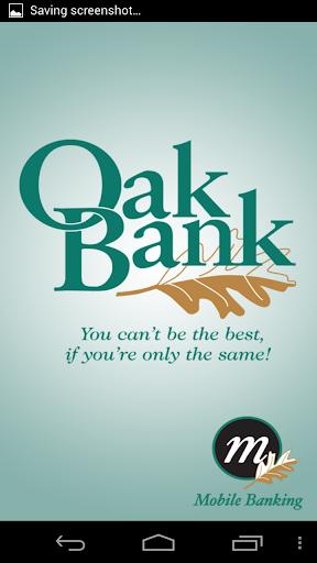 Oak Bank Mobile Banking