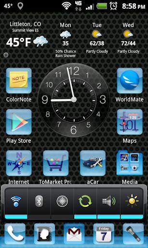 LC Aqua Theme Nova/Apex/Evie Launcher 1.05 screenshots 1