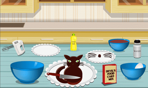 Cooking Game Black Cat Cake