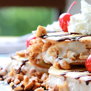 Banana Split Ice Cream Sandwich