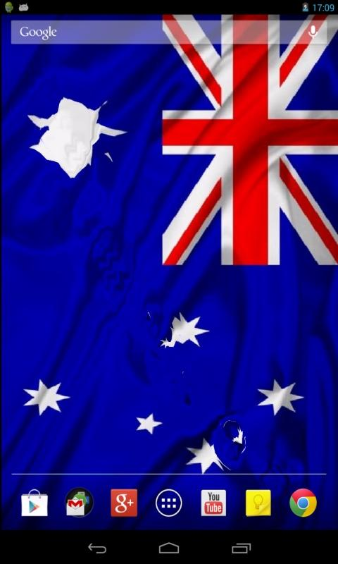 Flag of Australia wave effect - screenshot