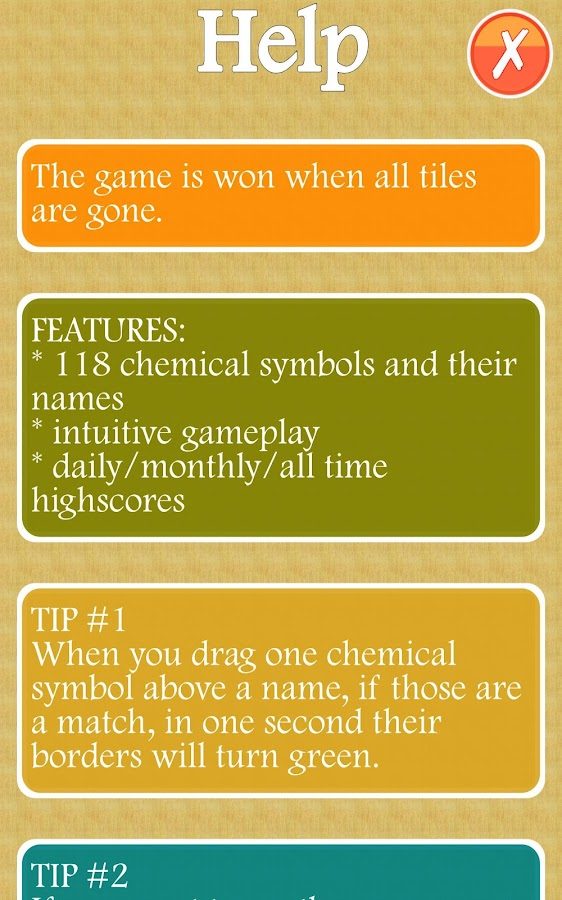 Chemical Symbols Quiz - screenshot