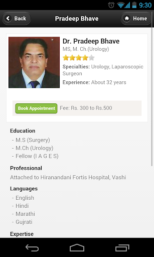 Dr Pradeep Bhave Appointments