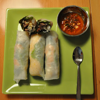 Vietnamese-style Spring Rolls with Korean-style Beef.
