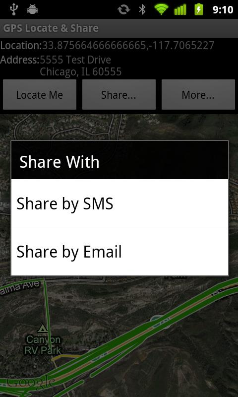 GPS Locate & Share Free- screenshot