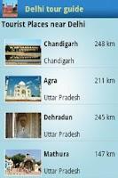 Screenshot of Delhi tour guide