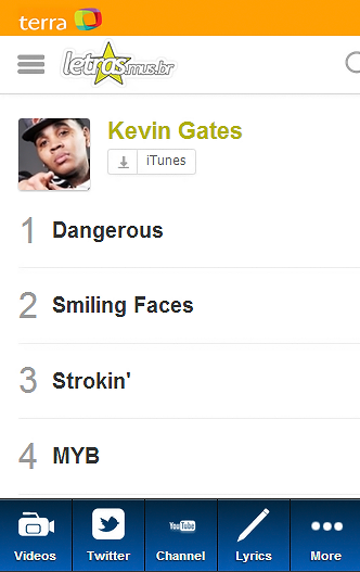 Kevin Gates Blue Fan - screenshot