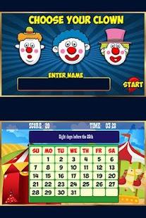 Calendar Clowns- screenshot thumbnail