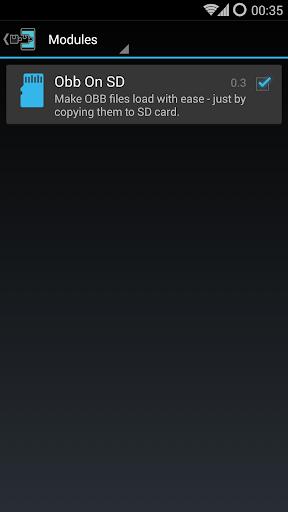 Obb on SD (Xposed) 0.4.3 screenshots 1