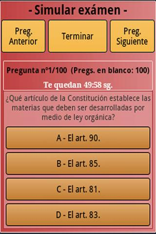 Policia Nacional Test Free - screenshot