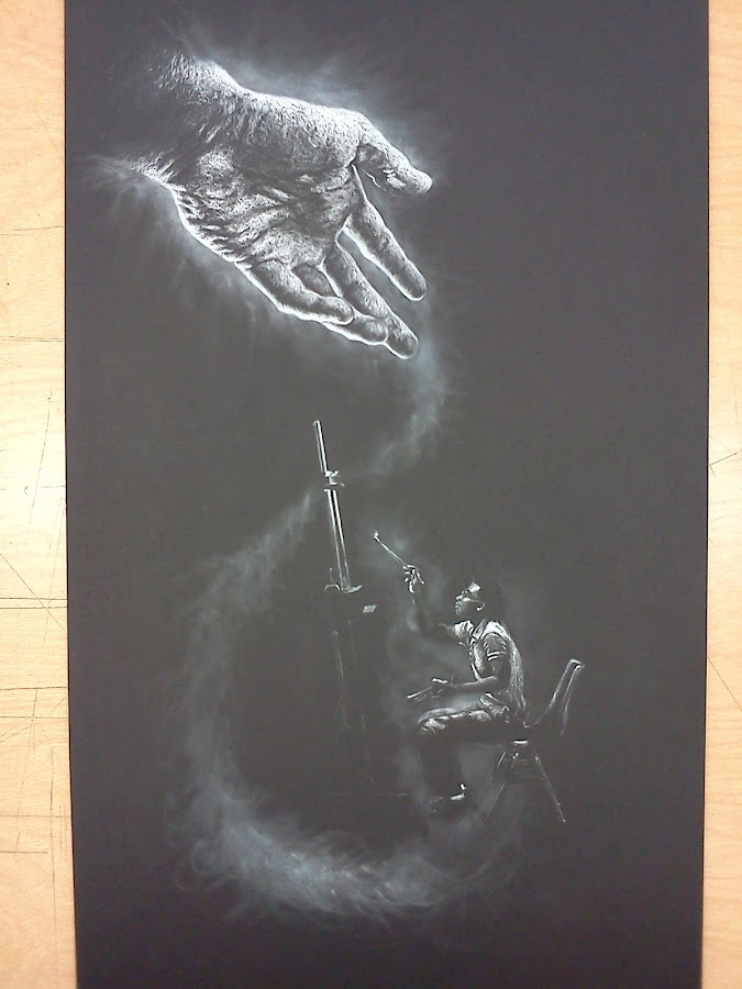 Only from His Hand by Andrew Nguyen - Drawing All Drawing