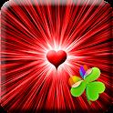 GO Launcher Black & Red Heart icon