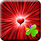 GO Launcher Black & Red Heart icon