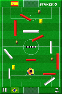 Strike The Goal -Soccer Themed Physics Puzzle Game- screenshot thumbnail