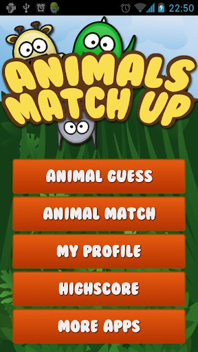 Animals MatchUp Guess Game