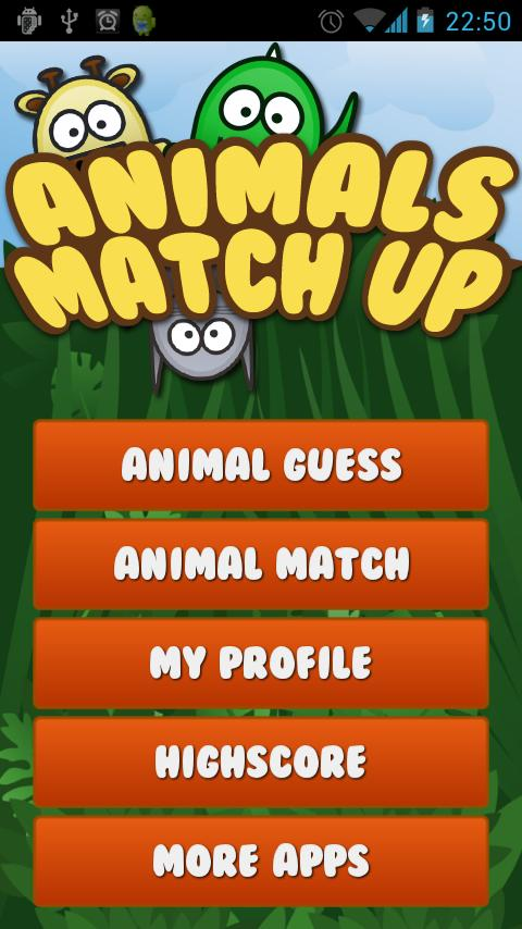 Animals MatchUp & Guess Game - screenshot