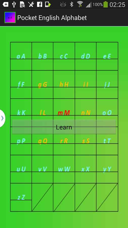 Pocket English Alphabet - screenshot
