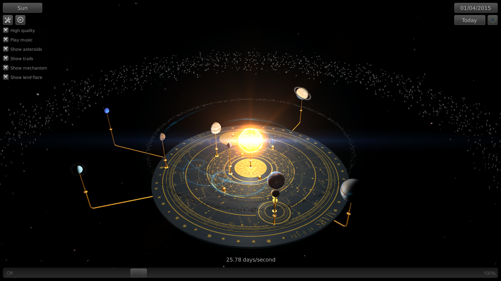 Orrery- screenshot