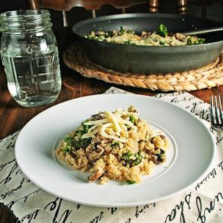 Kale Mushroom Quinoa.
