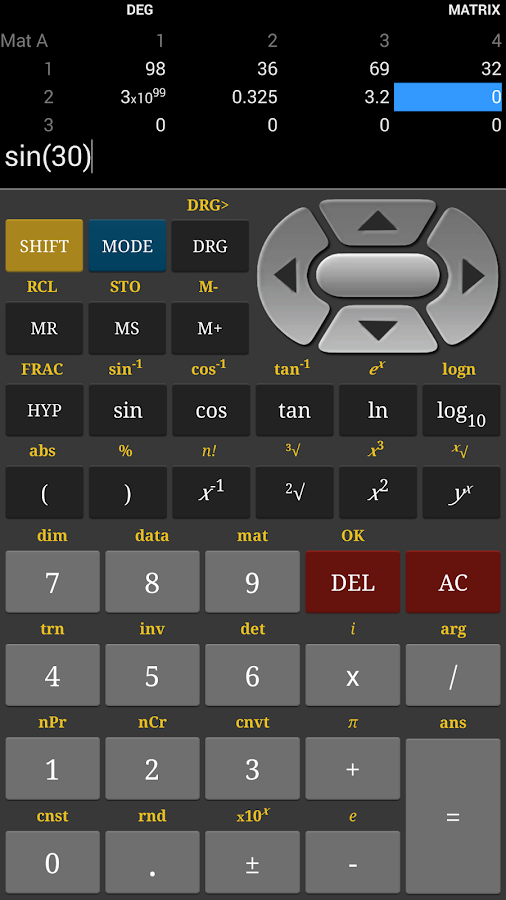 HF Scientific Calculator Pro - screenshot