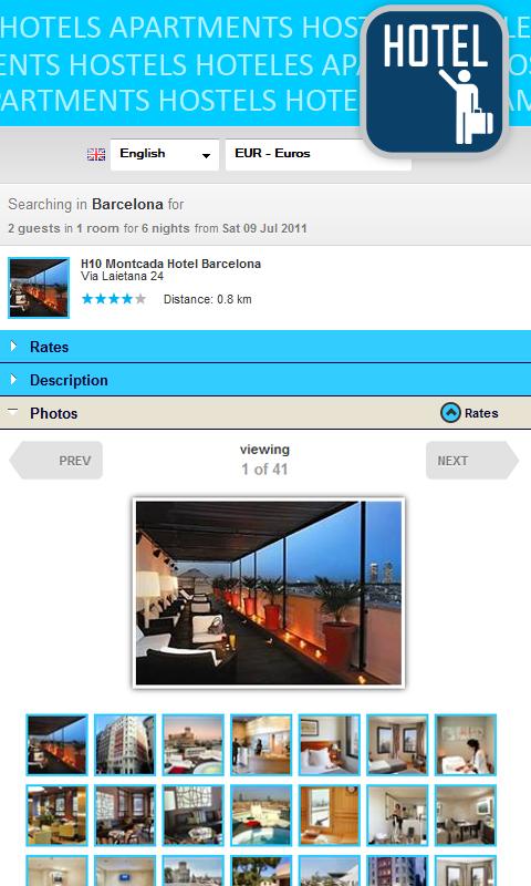 Cheap hotels & hostel deals - screenshot