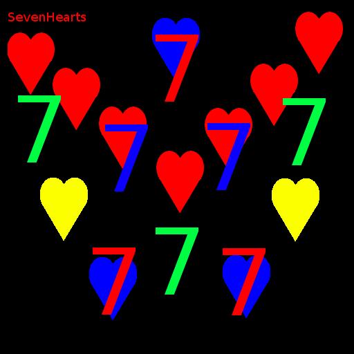Seven Hearts LOGO-APP點子