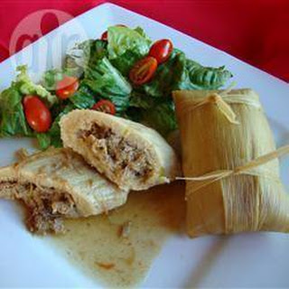 Homemade Mexican Tamales.