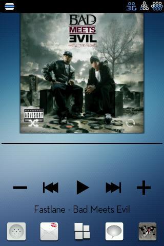 Blue Unity CM7 Theme (Black)- screenshot