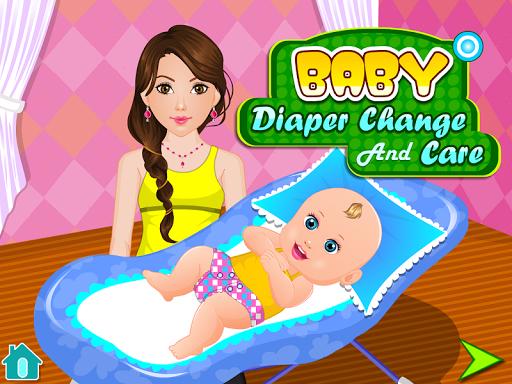 換尿布的嬰兒遊戲