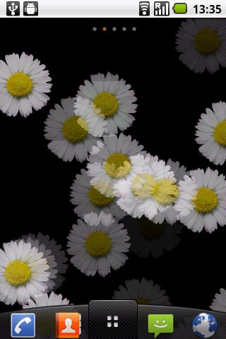 White Flower Live wallpaper - screenshot