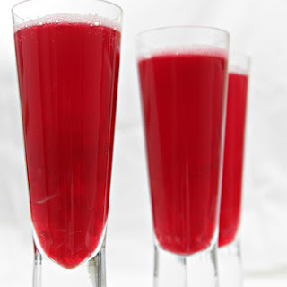 Beet Bellini with Pickled Ginger.
