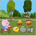 Bike Pepe Pig icon