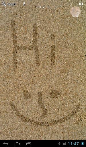 畫在沙灘上