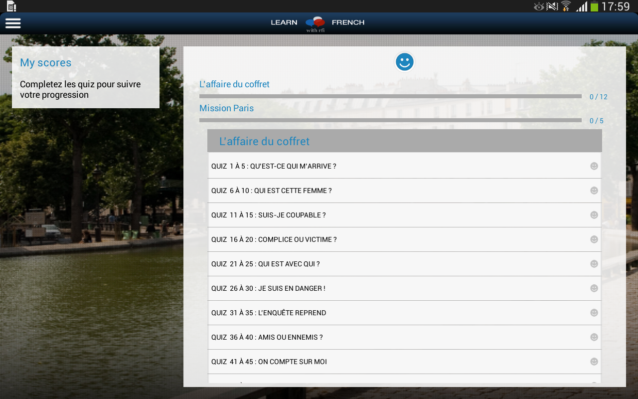 Learn French with RFI- screenshot