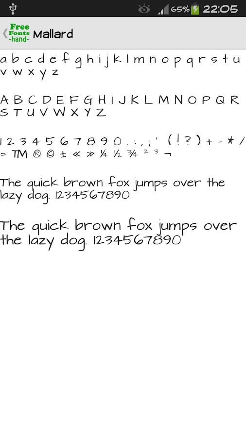 free handwriting application for android