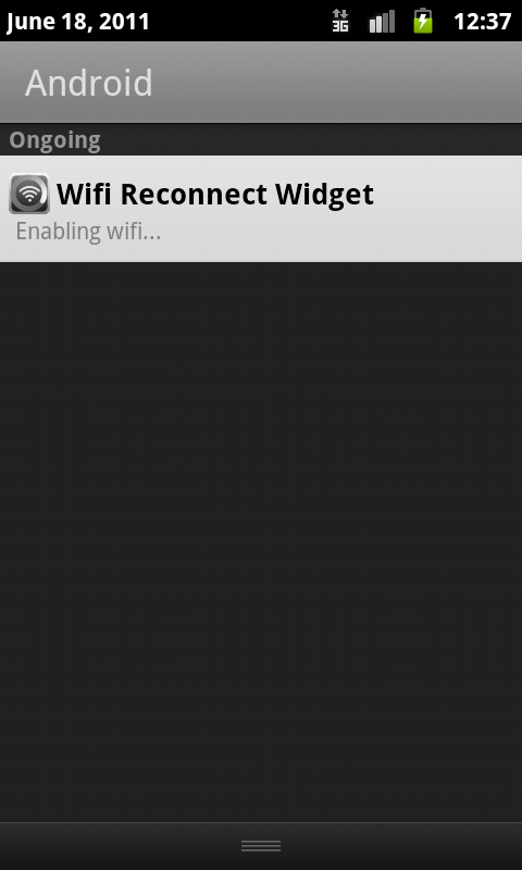 Wifi Reconnect Widget - screenshot