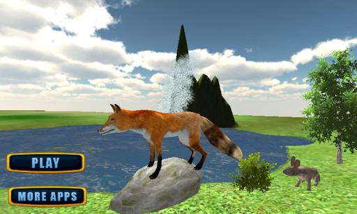 憤怒的野生狐狸攻擊辛3D