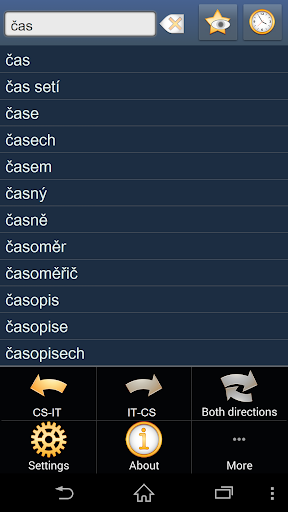 Czech Italian dictionary
