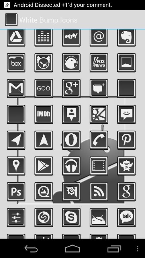 White HiLite Icons- screenshot
